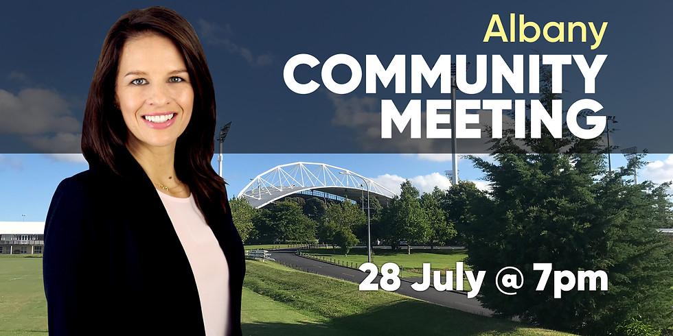 Albany Community Meeting