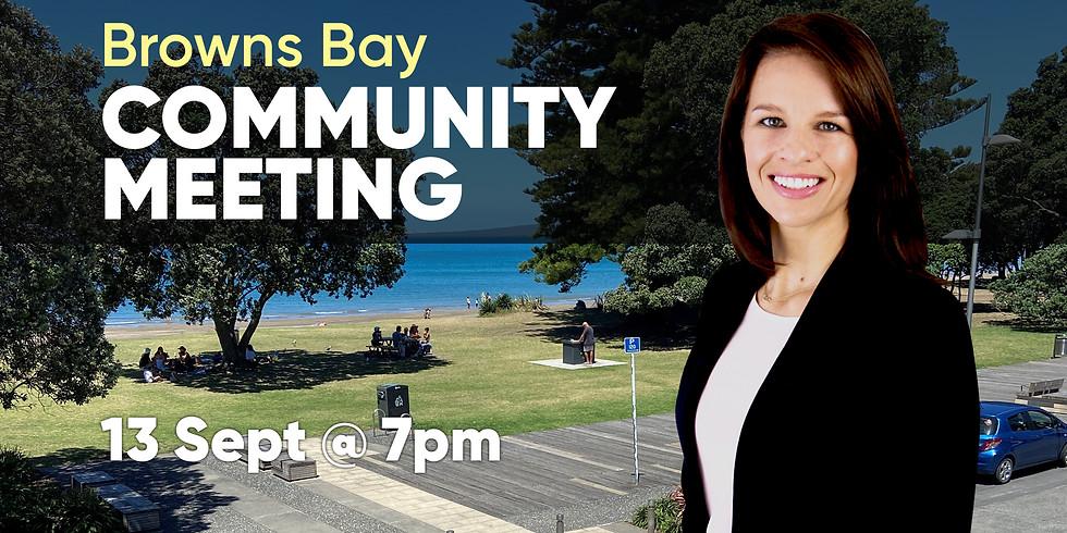Browns Bay Community Meeting