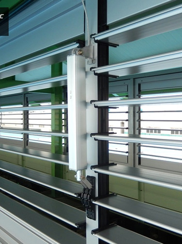 Automatic Jalousie Windows @ A Factory