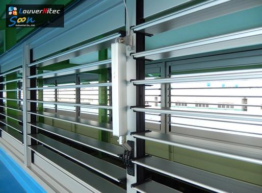 Maximum Ventilation Area To 90% With Electrical Jalousie Window Opener