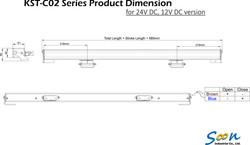 KST-C02 Dual Chain Actuator_Dimension drawing_DC