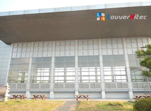 Electric Louvers, turn the business building cool in summer and warm in winter without air-con