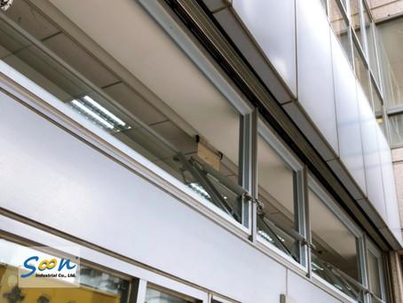 銀行內自然排煙窗的重新配置