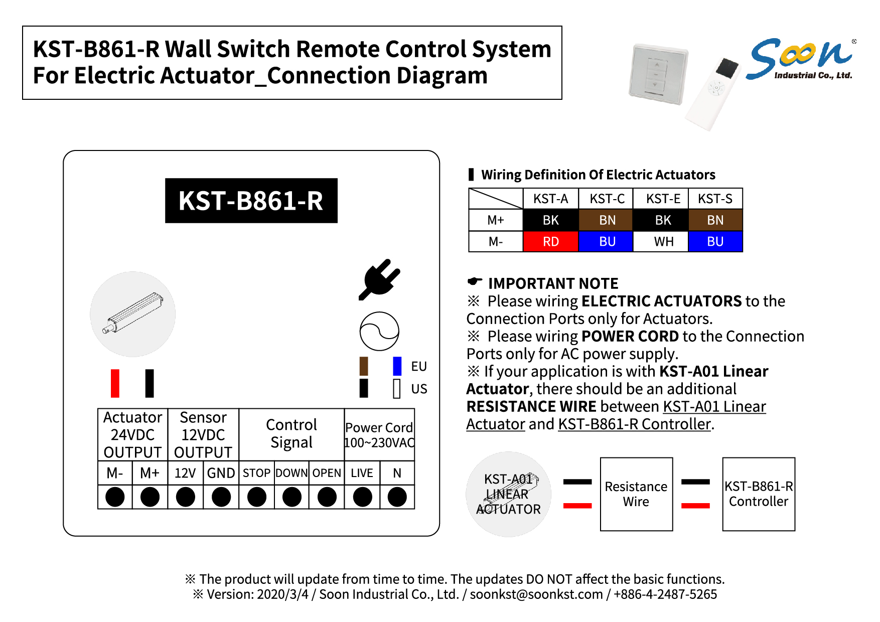 KST-B861-R - Connection Instructions