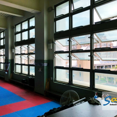Gym / Top Hung Windows / Natural Vent