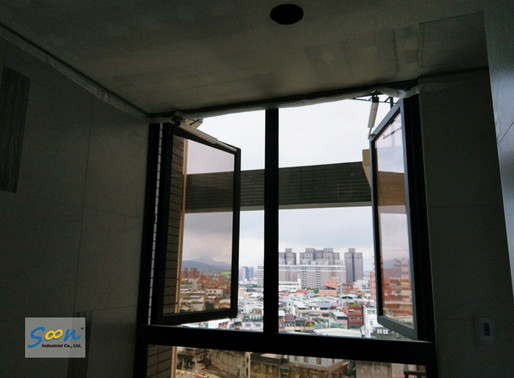 Electrically Opening Large Side Hung Windows