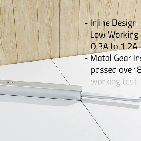 KST-A01 inline design linear actuator