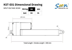 KST-E01 - product dimension drawing-01