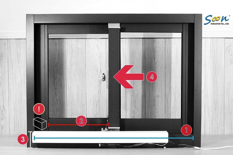 選購KST-SL01橫拉窗電動開窗器前確認事項
