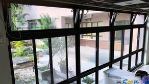 電動外推窗 - 如何開啟活動中心的高處氣窗?