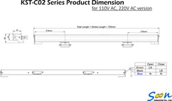KST-C02 Dual Chain Actuator_Dimension drawing_AC