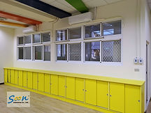 automatic sliding window in kindergarten