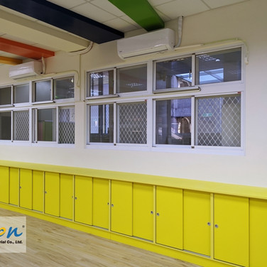 Kindergarten / Sliding Windows / Natural Vent