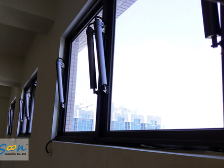 Electrical Awning Windows For Smoke Vent & Natural Vent In Factory