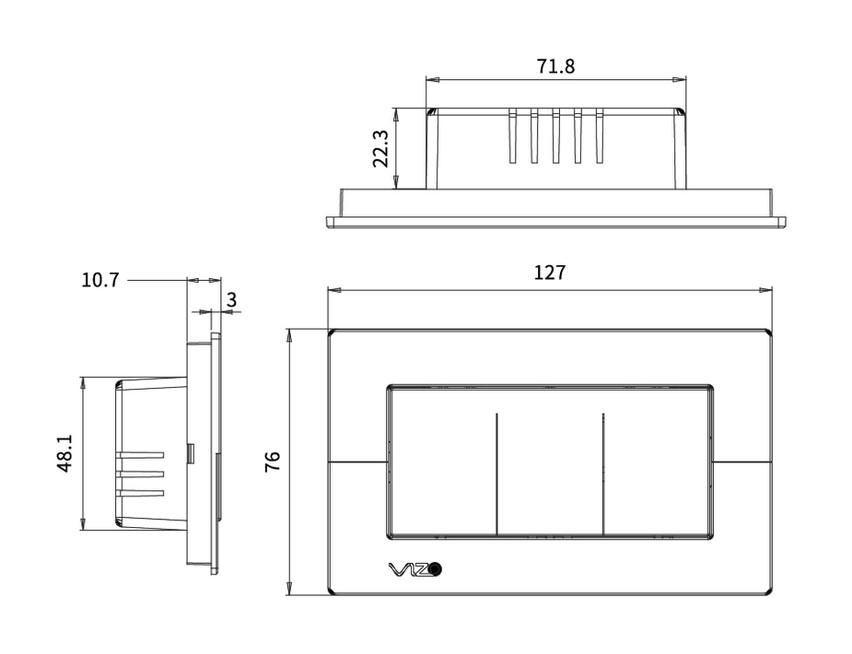 KST-VZ-213S - Wi-Fi smart wall switch -