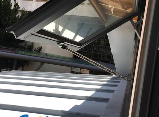 Smart Window Opener System In Eco-energy Show Room Of College