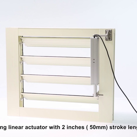KST-A01 linear actuator on automatic louver