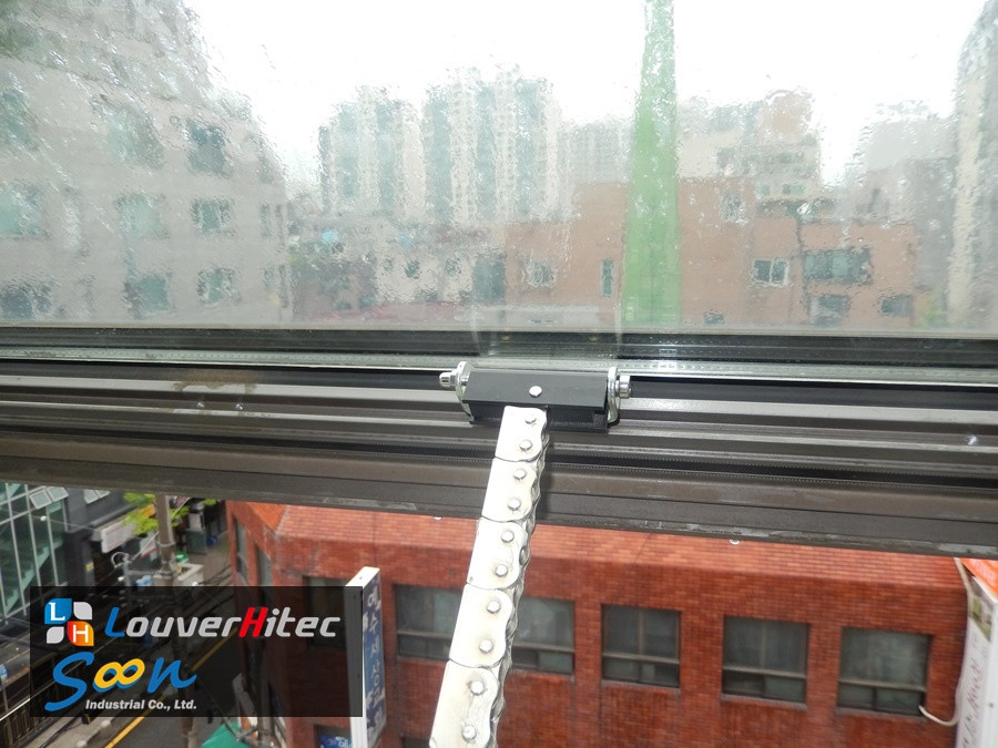 Chain type electric window opener for office