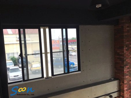 Install automatic sliding window openers for the transoms of high ceiling store