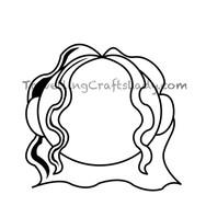 Med length wave hair