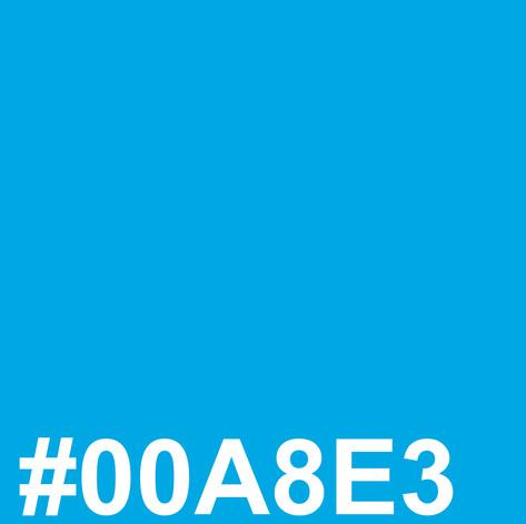 Light blue #00A8E3