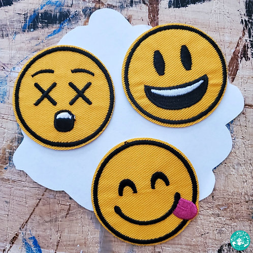 Emojis 01 Embroidered Patches Pack E01-EPP07