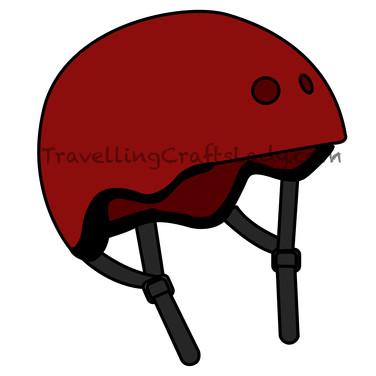 Red helmet graphic