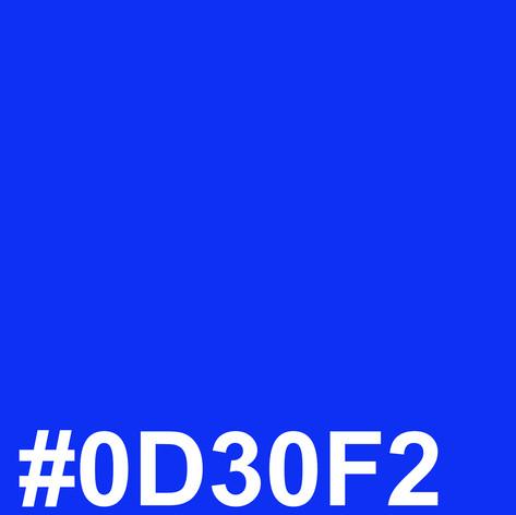 Dark blue #0D30F2