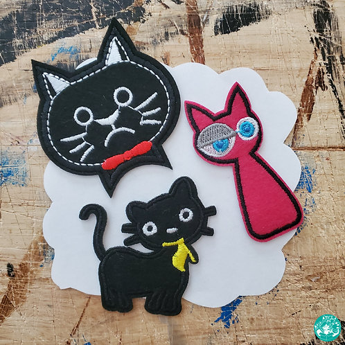 Kitty Embroidered Patches Pack K-EPP06