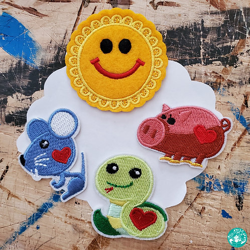 Animal Love Sunshine Embroidered Patches Pack ALS-EPP12