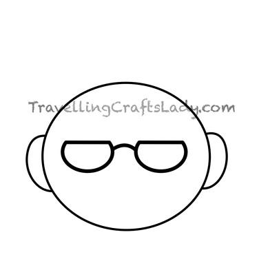 Half circle glasses