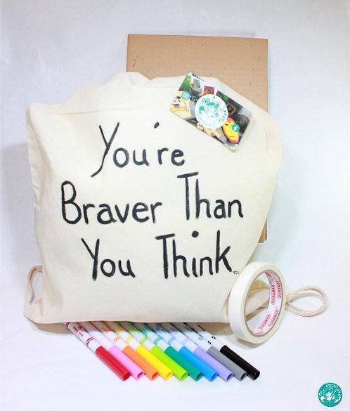 PrePainted Boy Text Drawstring Backpack Colouring Kit PPBBPCK01