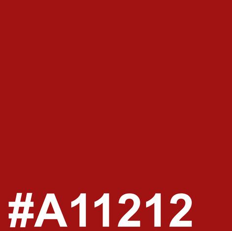 Dark red #A11212