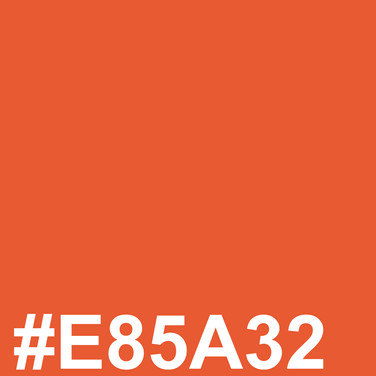 Warm orange #E85A32