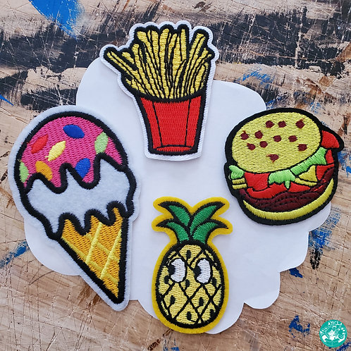 Yummy Food Embroidered Patches Pack YF-EPP14