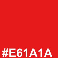 Red #E61A1A