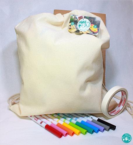 Blank Drawstring Backpack Colouring Kit BKBPCK01
