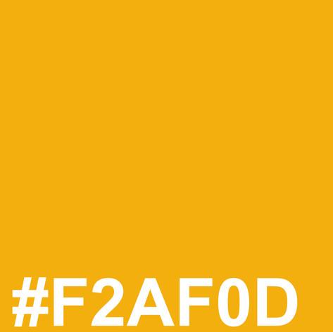 Dark yellow #F2AF0D