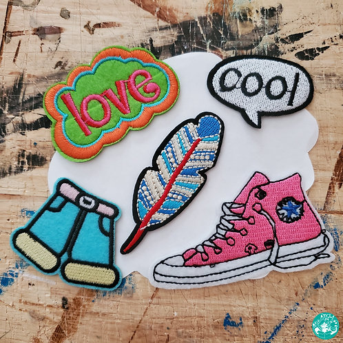 Love And Cool Embroidered Patches Pack LAC-EPP26