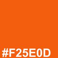Orange #F25E0D