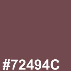 #72494C