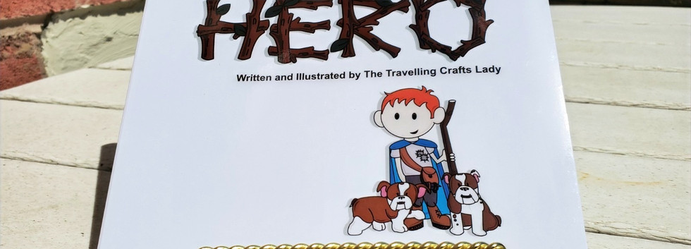 A Hero custom storybook photograph of the cover