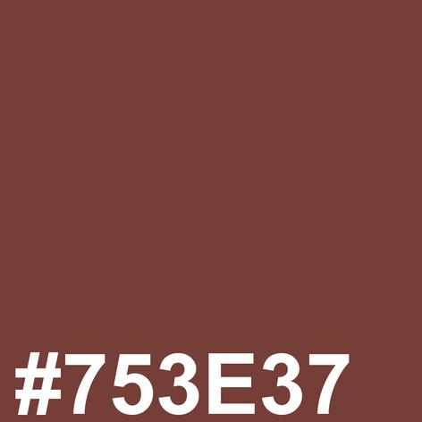 #753E37