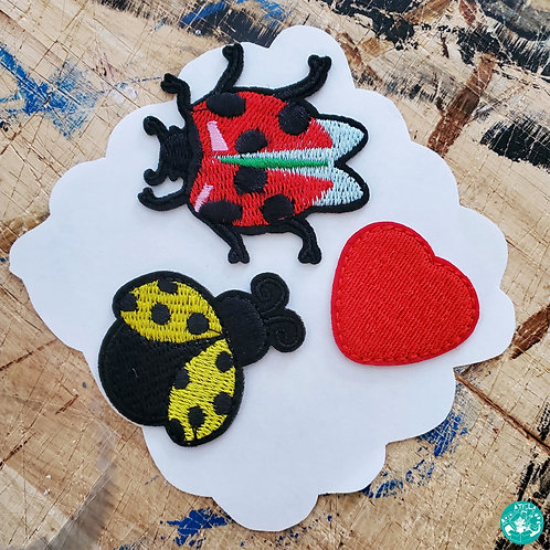 Happy Bugs Embroidered Patches Pack HB-EPP02