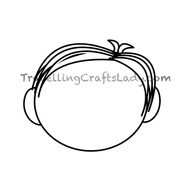 Med hair cut with no bangs