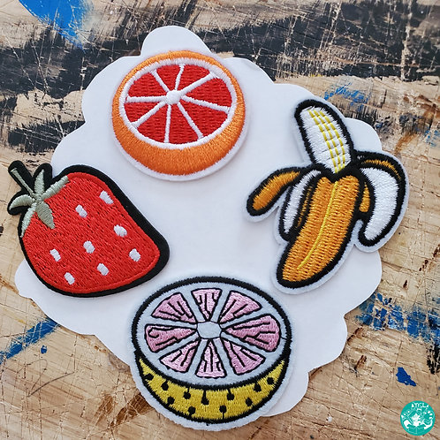 Fruit Mania Embroidered Patches Pack FM-EPP09