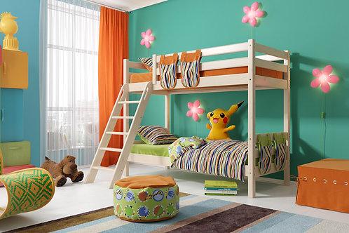 Двухъярусная кровать «Соня» с наклонной лестницей. Вариант 10