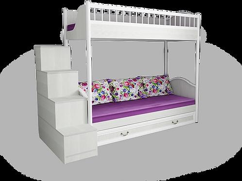 """кровать 2-х ярусная универсальная со сплошным ограждением и ящиком  """"Классика"""""""