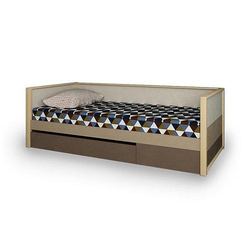 Кровать с фальшпанелью и ящиком