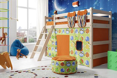 Полувысокая кровать «Соня» с наклонной лестницей. Вариант 6